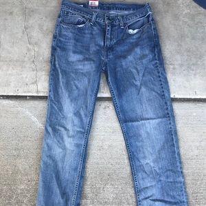NWT Levi's 514 denim jeans straight blue men's